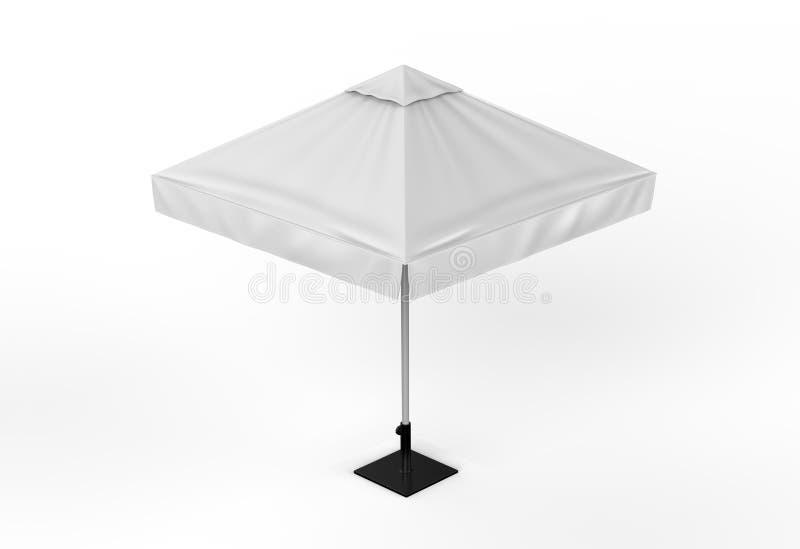 Sun de alumínio relativo à promoção estala acima o guarda-chuva do parasol para anunciar 3d que arranca a ilustração ilustração stock