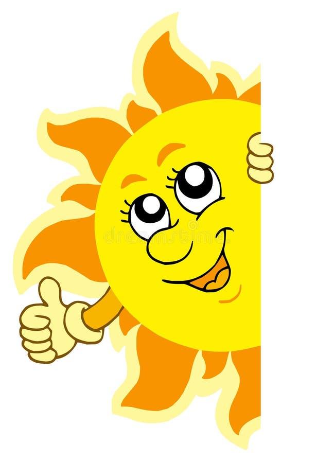 Sun de cachette avec des mains illustration libre de droits