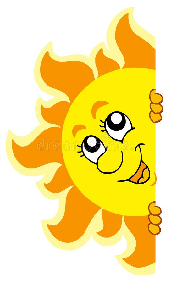 Sun De Espreitamento Foto de Stock