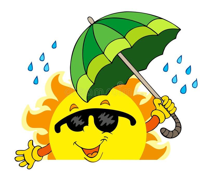 Sun de espreitamento com guarda-chuva grande