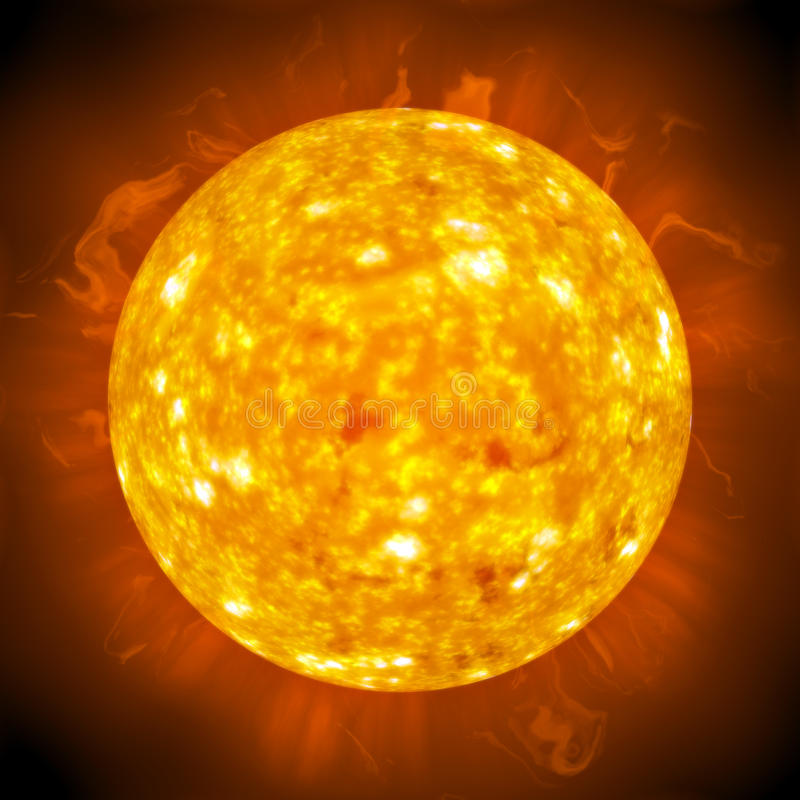 Sun de incandescência impetuoso ilustração royalty free