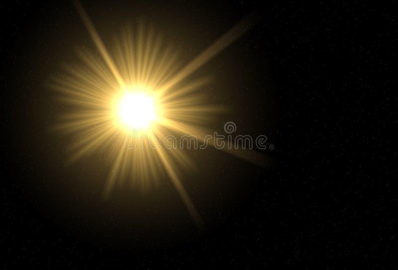Sun de irradiação ilustração do vetor
