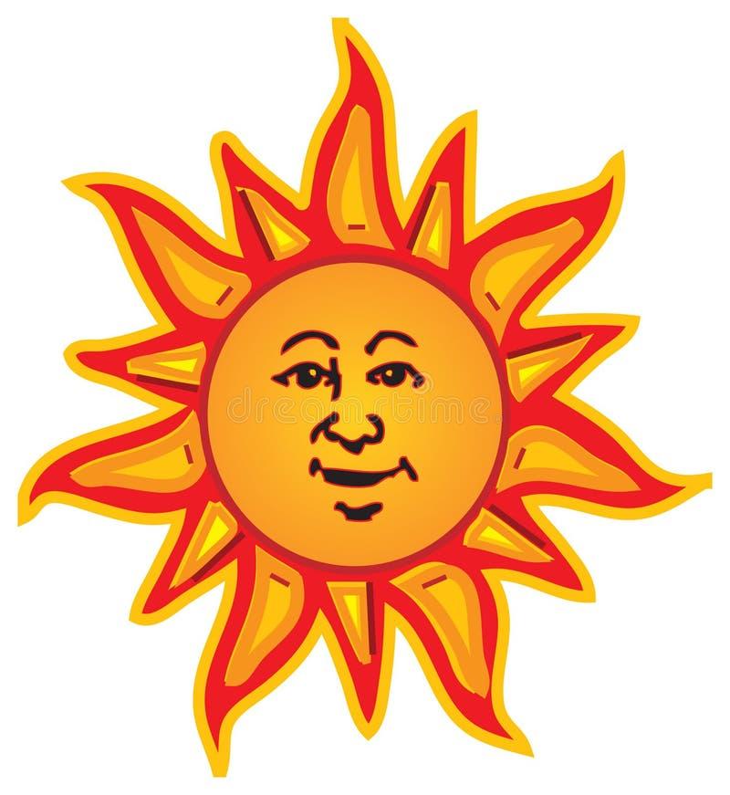Sun de sourire illustration libre de droits