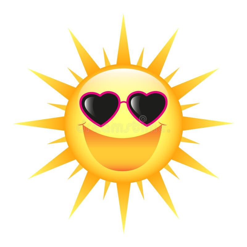 Sun de sourire images libres de droits