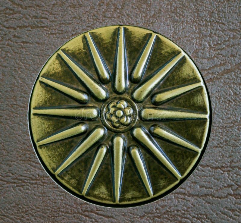 Sun de Vergina, el símbolo del griego clásico Estrella con dieciséis rayos foto de archivo libre de regalías
