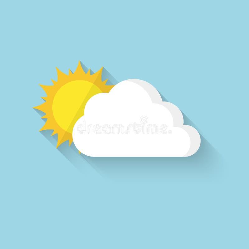 Sun, der hinter der Wolke sich versteckt Auch im corel abgehobenen Betrag vektor abbildung