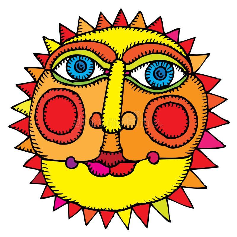 Sun in der Mitte des Sommers lizenzfreie abbildung