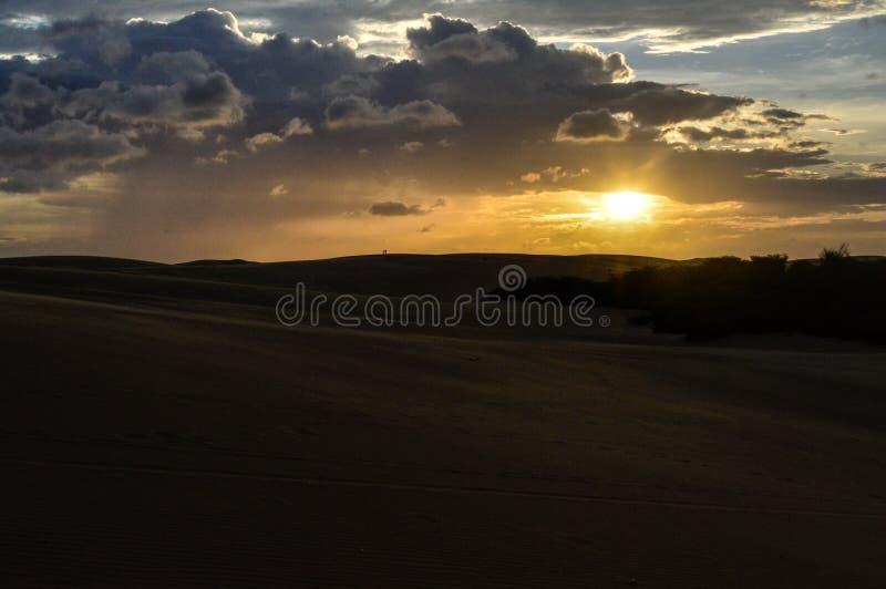 Sun in the desert royalty free stock image