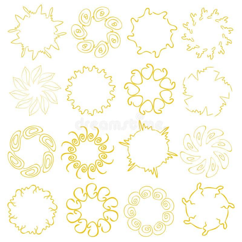 Download Sun designs stock vector. Image of sunbeam, design, woodcut - 15119198