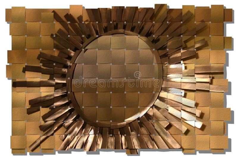 Sun di metallo fotografie stock