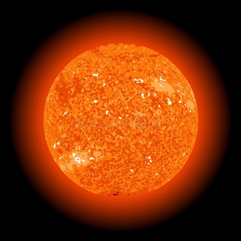 Sun do espaço ilustração royalty free