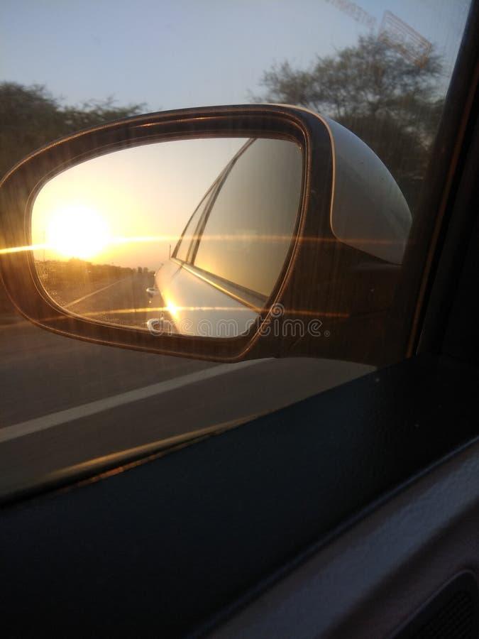 Sun do vidro do carro imagem de stock