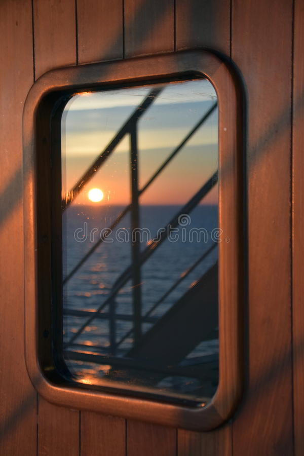 Sun in the door royalty free stock photography