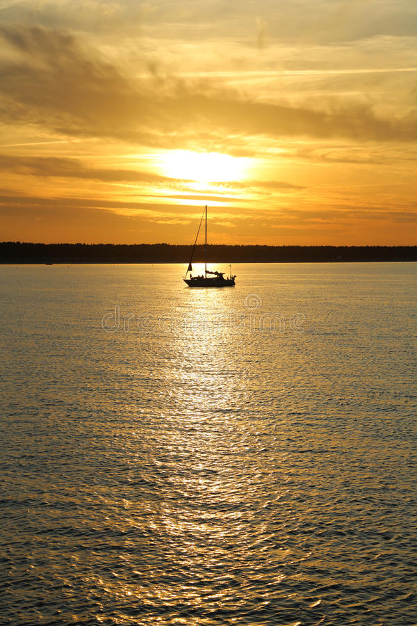 Download Sun down at the Baltic Sea stock image. Image of relax - 26751263