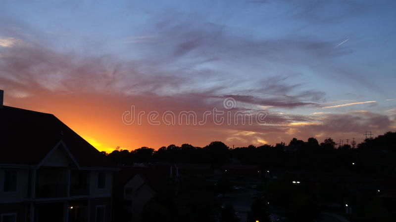 Sun Downing royalty free stock photography