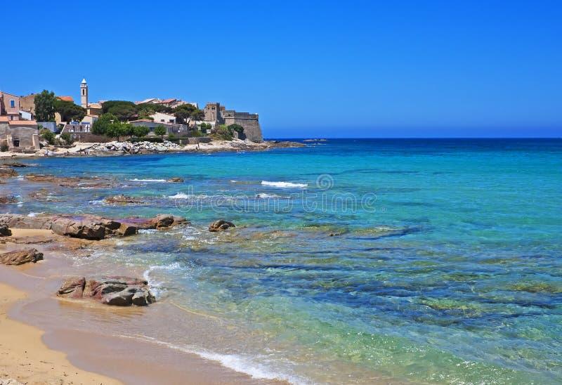 Sun-drenched Algajola, Corsica fotografering för bildbyråer