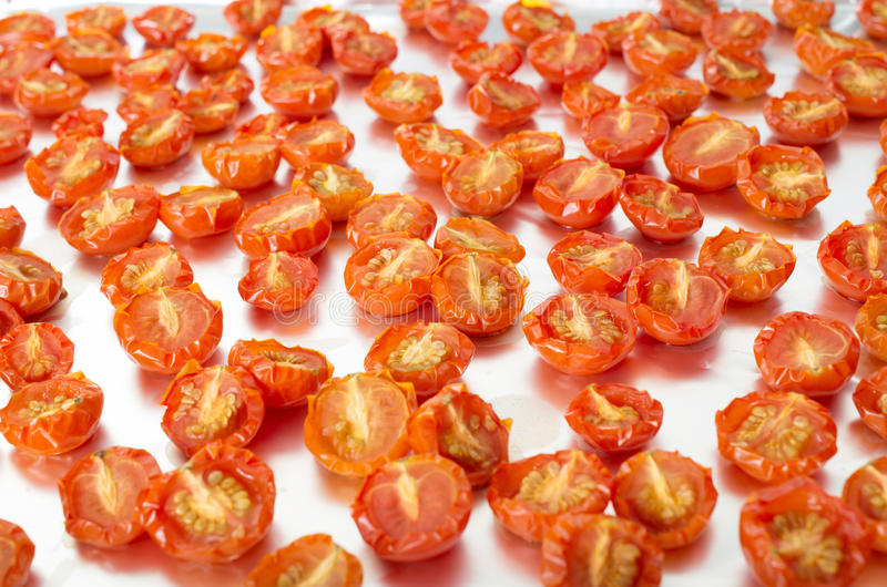Sun-dried cherry tomatoes royalty free stock image