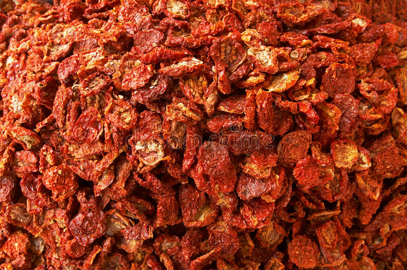 Sun-dried tomatoes stock photography