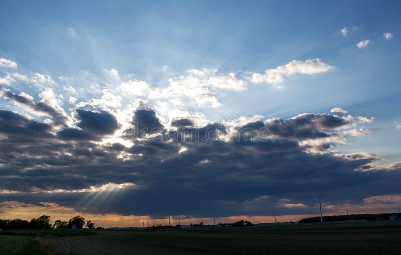 The Sun duurt Poging royalty-vrije stock foto
