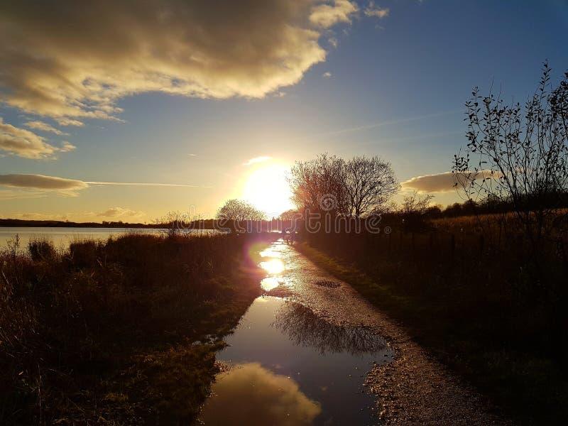 Sun e água fotografia de stock royalty free