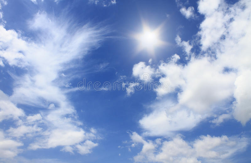 Sun e bluesky immagini stock