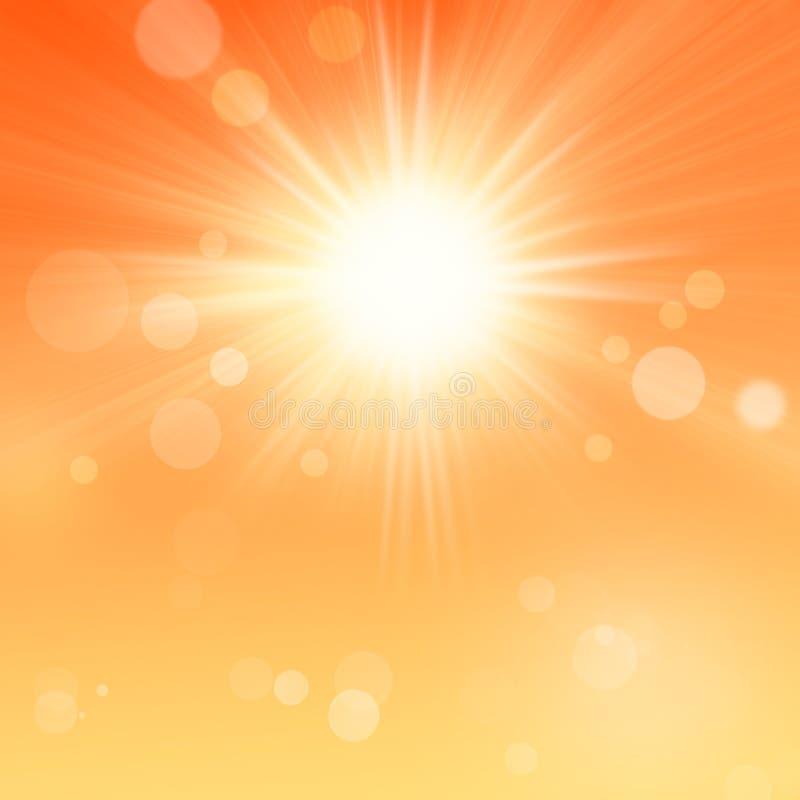 Sun e fundo do alargamento da lente ilustração royalty free