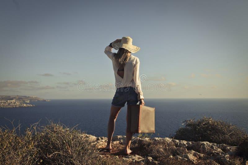 Sun e la spiaggia fotografie stock libere da diritti