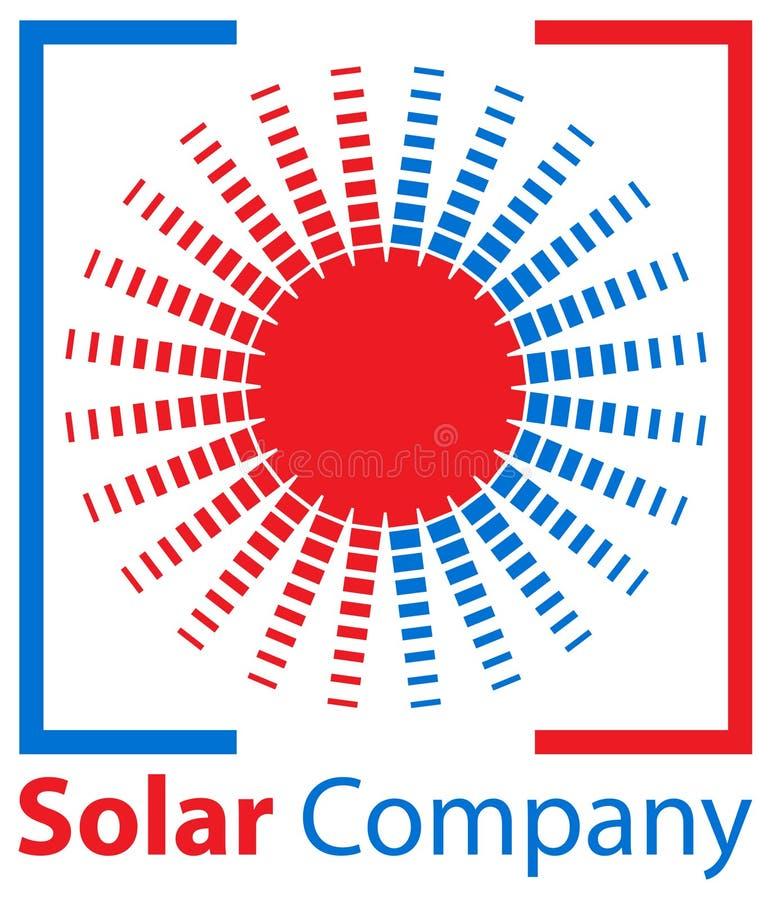 Sun e logotipo solar da empresa ilustração stock