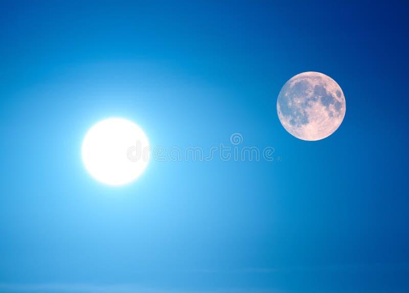 Sun e luna immagini stock libere da diritti