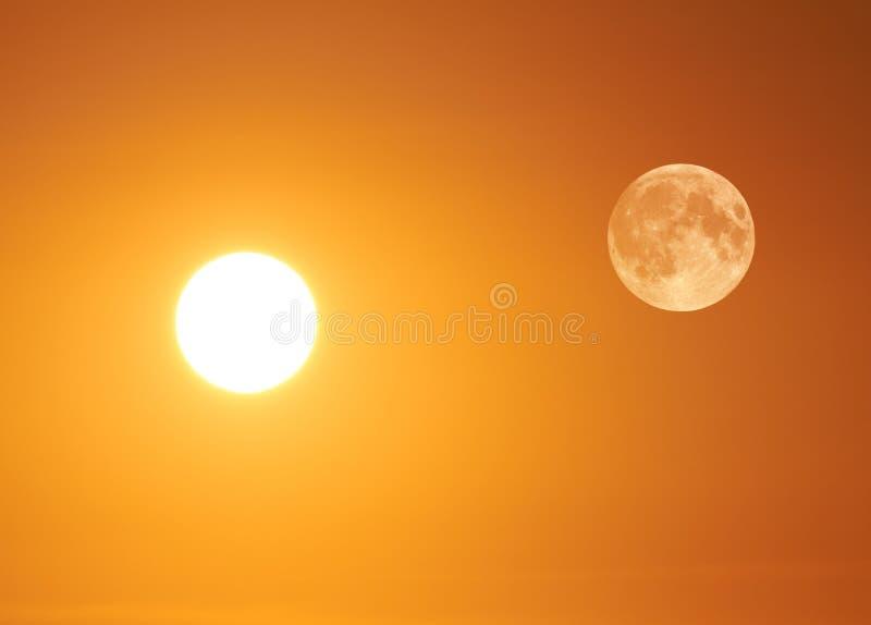 Sun e luna fotografie stock
