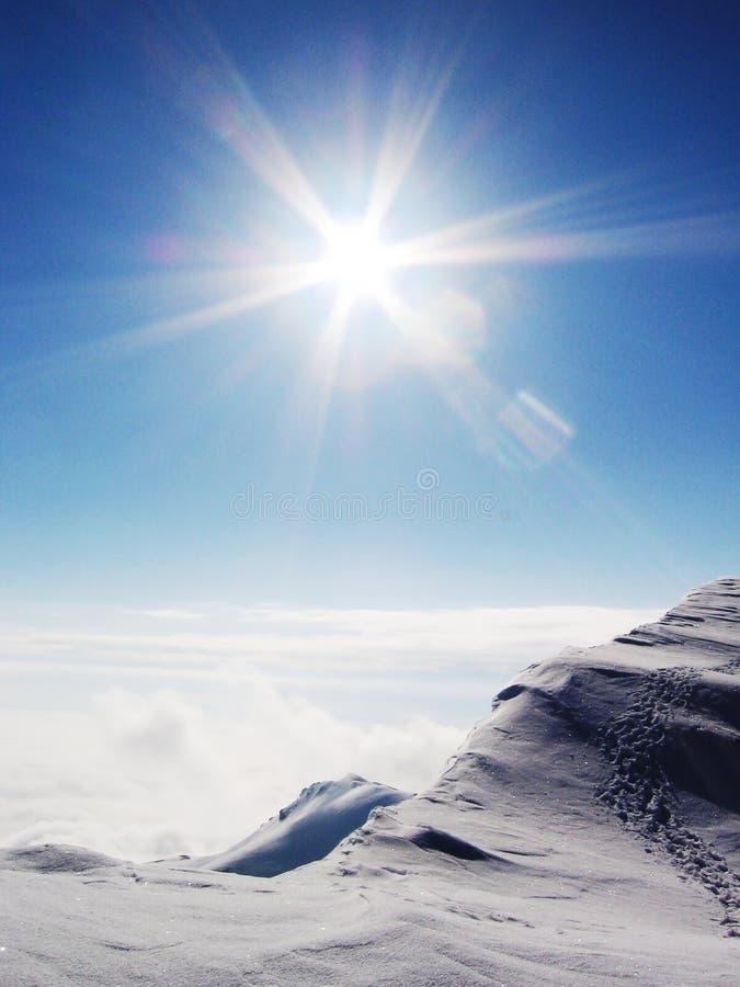 Sun e neve foto de stock royalty free