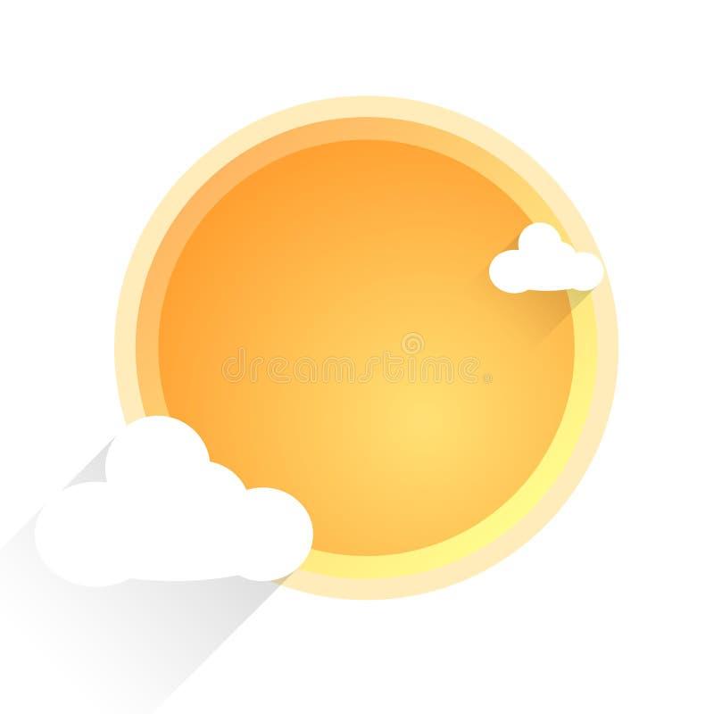 Sun e nubi illustrazione di stock