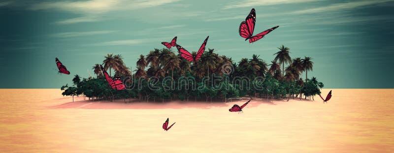 Sun e praia ilustração stock