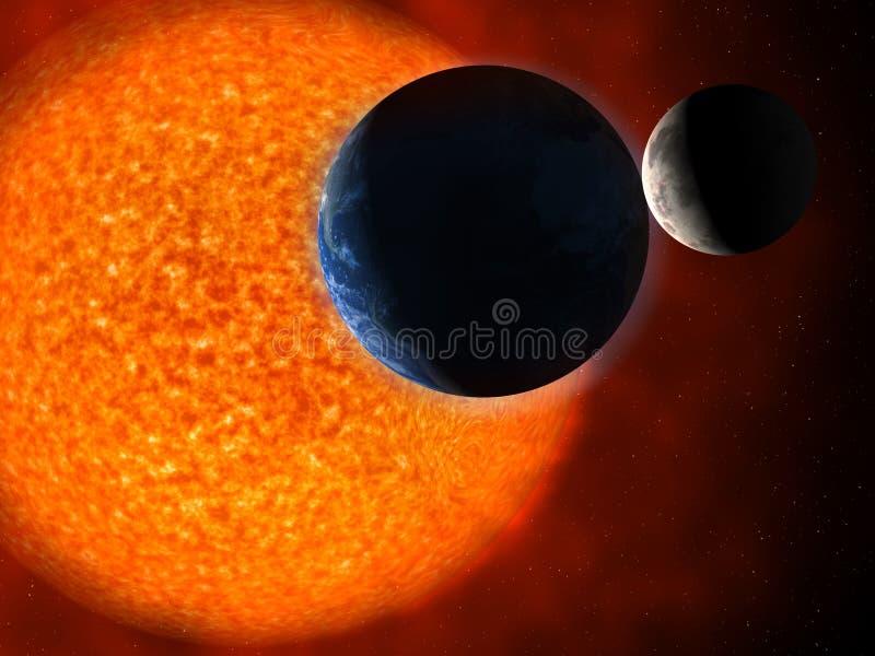 Sun e terra royalty illustrazione gratis