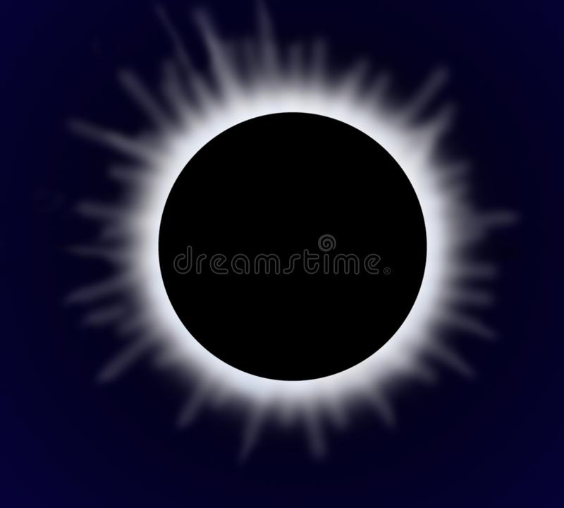 Sun eclipse stock illustration