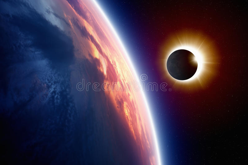 Sun eclipse royalty free stock image
