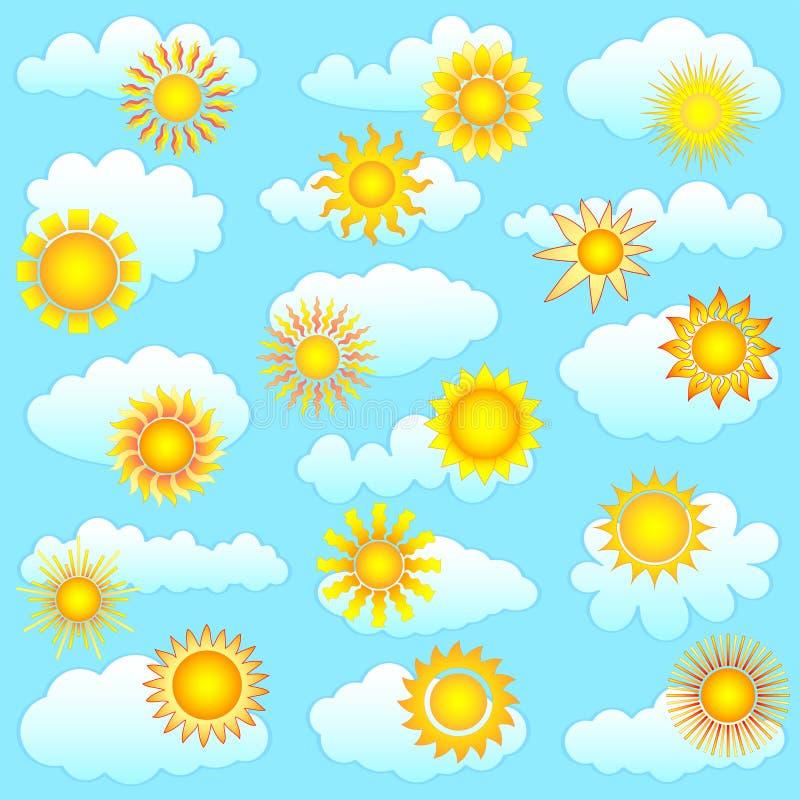 Sun ed accumulazione delle nubi royalty illustrazione gratis