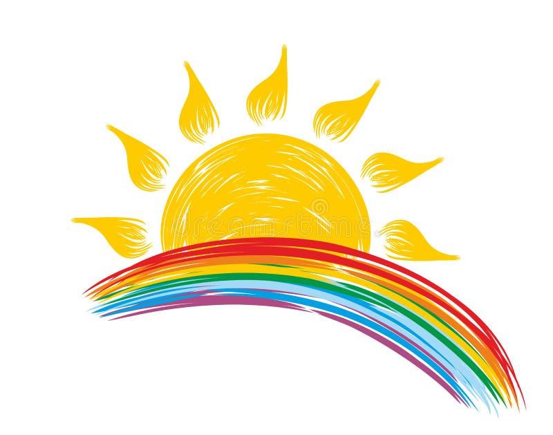 Sun ed arcobaleno royalty illustrazione gratis