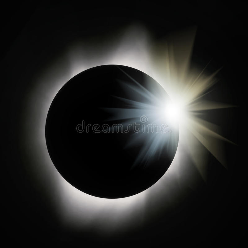 Sun-Eklipse lizenzfreie stockfotos