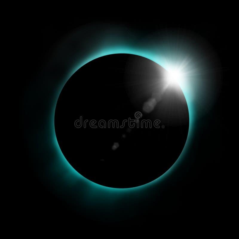 Sun-Eklipse stock abbildung