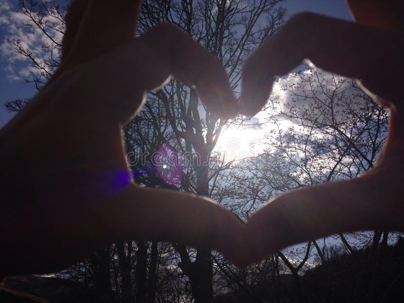 Sun em meu coração foto de stock royalty free