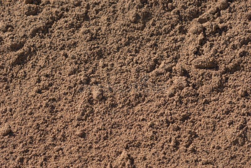 Sun embebeu a areia com os tamanhos diferentes de grões de areia fotos de stock royalty free
