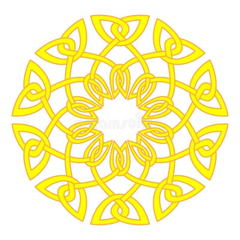 Sun en de estilo celta Illustra medieval tradicional del modelo del marco libre illustration