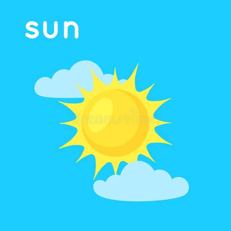Sun en el cielo libre illustration