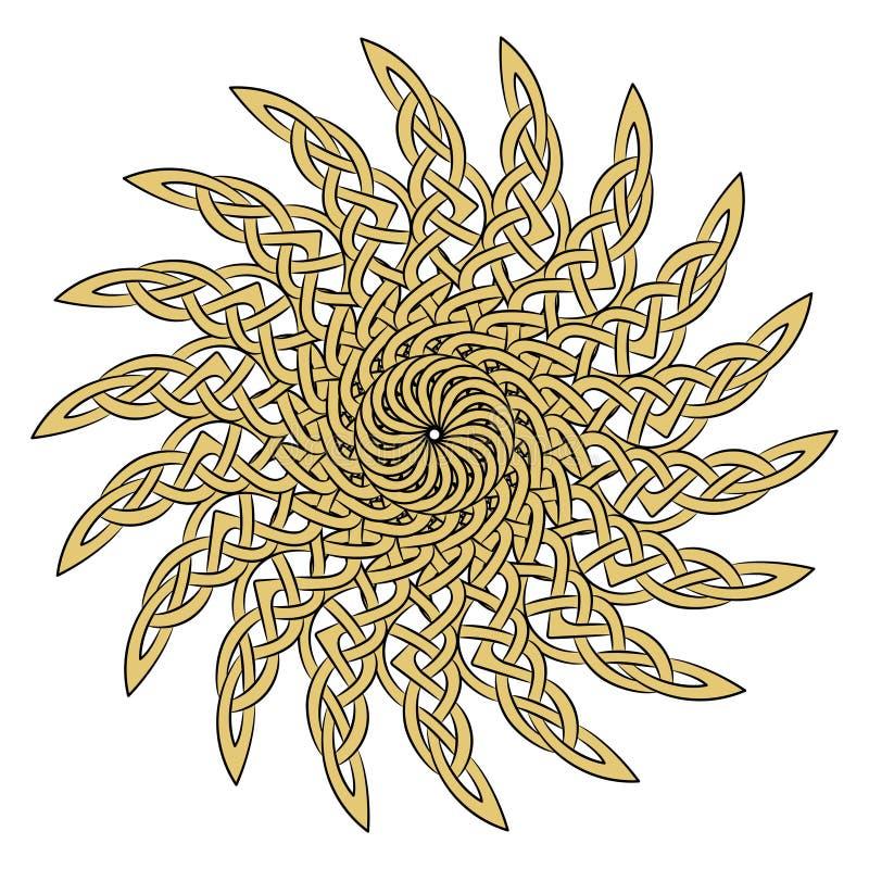 Sun en el de estilo celta del ornamento europeo antiguo libre illustration