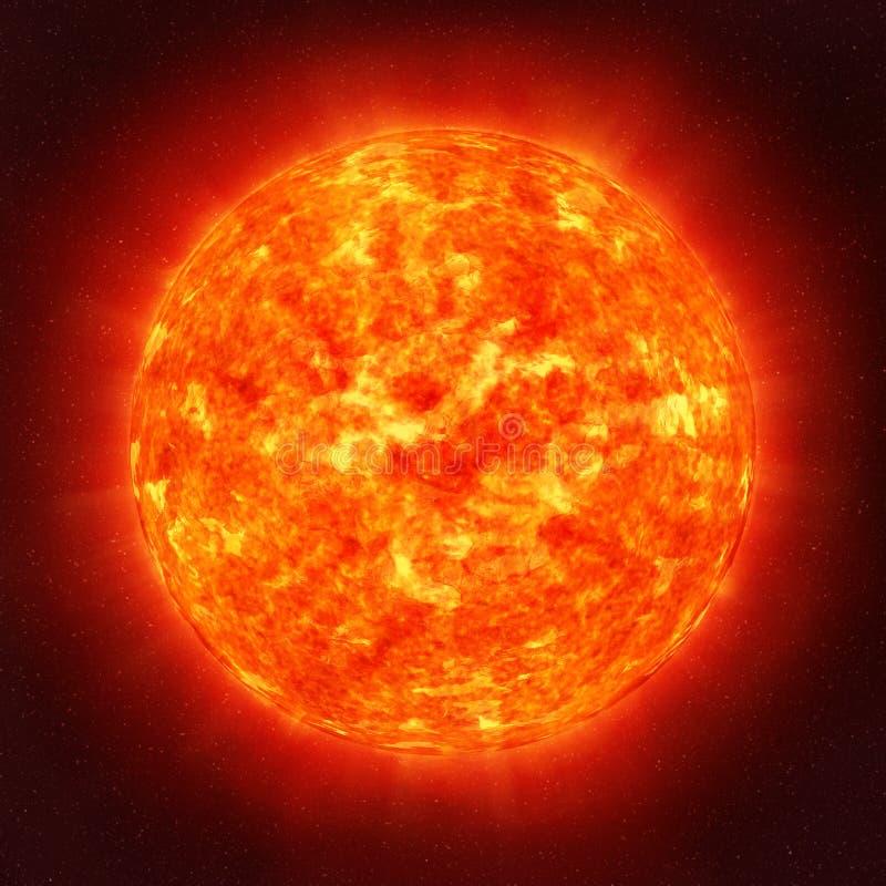 Sun en espacio ilustración del vector