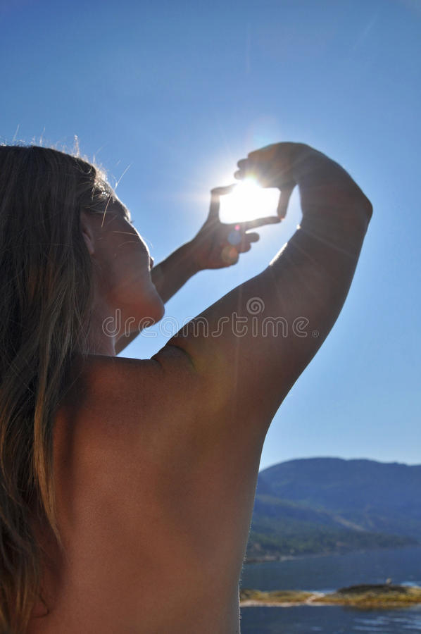 Sun en un marco imagenes de archivo