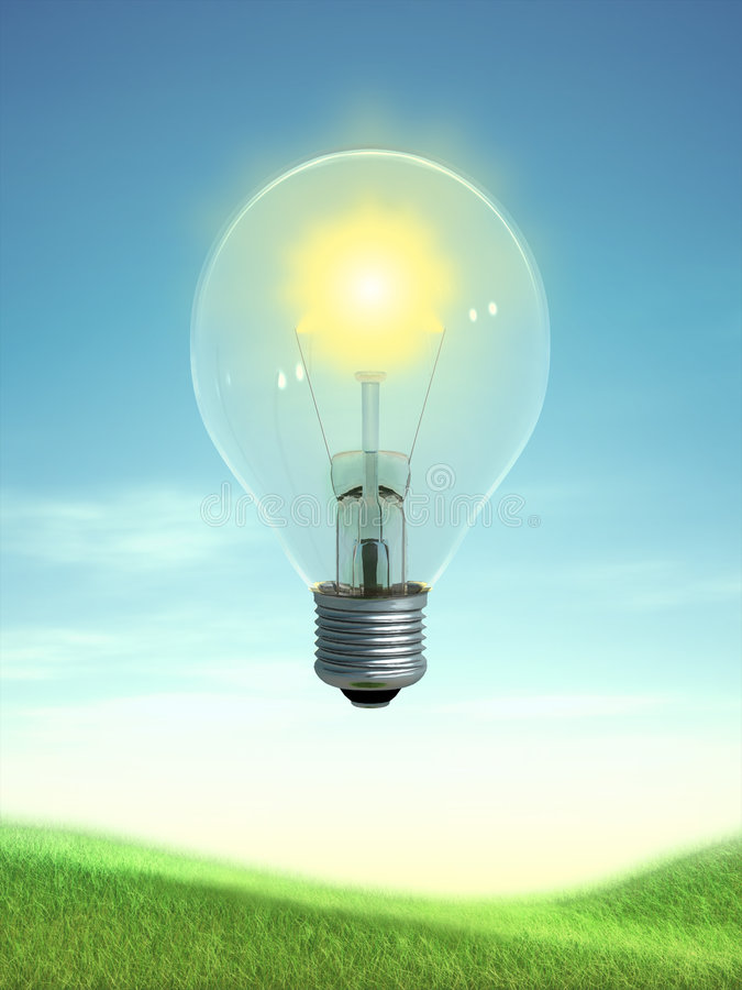 Sun-Energie lizenzfreie abbildung