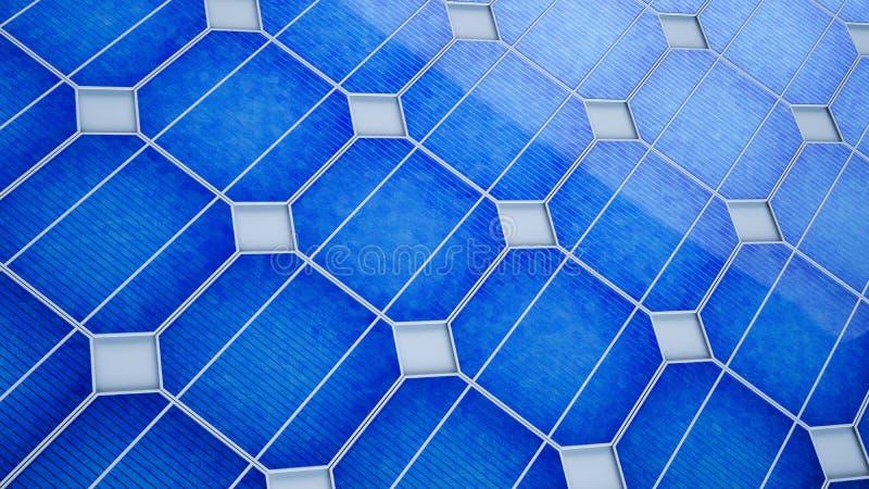 Sun-Energie in der Hand stock abbildung