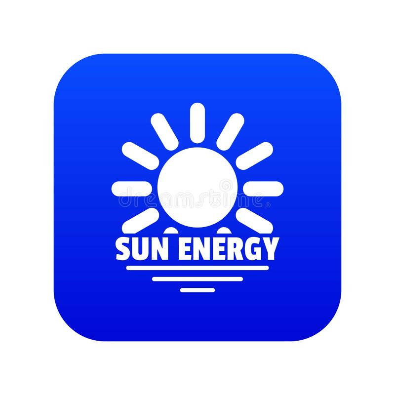 Sun energy icon blue vector vector illustration